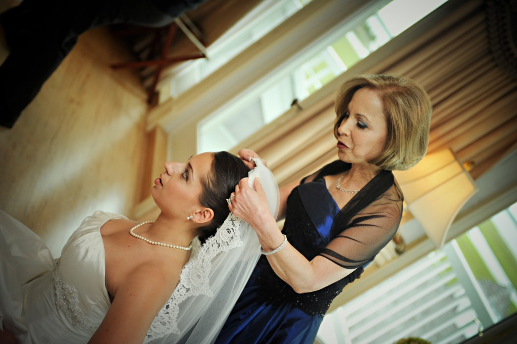 A special moment with Dani and her mother prior to the first look.