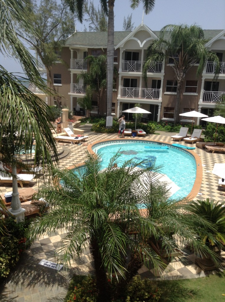 Swimming Pool at the Kensington Cove Village. All Sandals Club level rooms. Very quiet at this end of the resort.