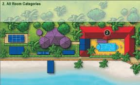 Property map of the Sandals Carlyle Resort.
