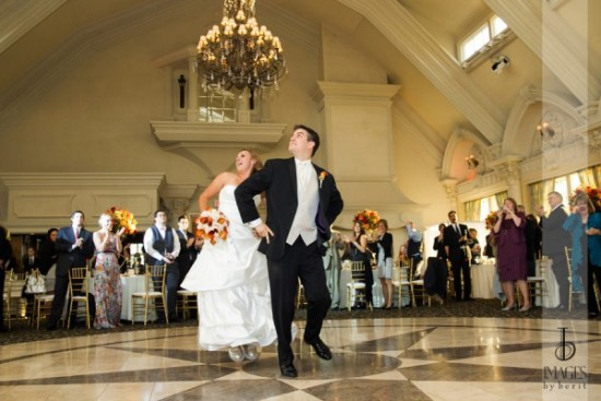 Morgan and Craig were introduced Gangham style at their Ashford Estate wedding reception. Notice her gold sequined UGGS. Photo courtesy of Images by Berit.