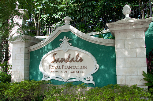 Sandals Royal Plantation resort entrance