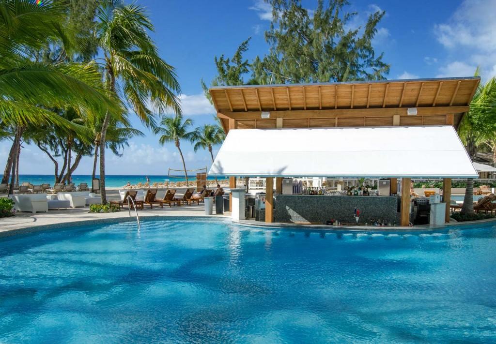 Barbados pool bar