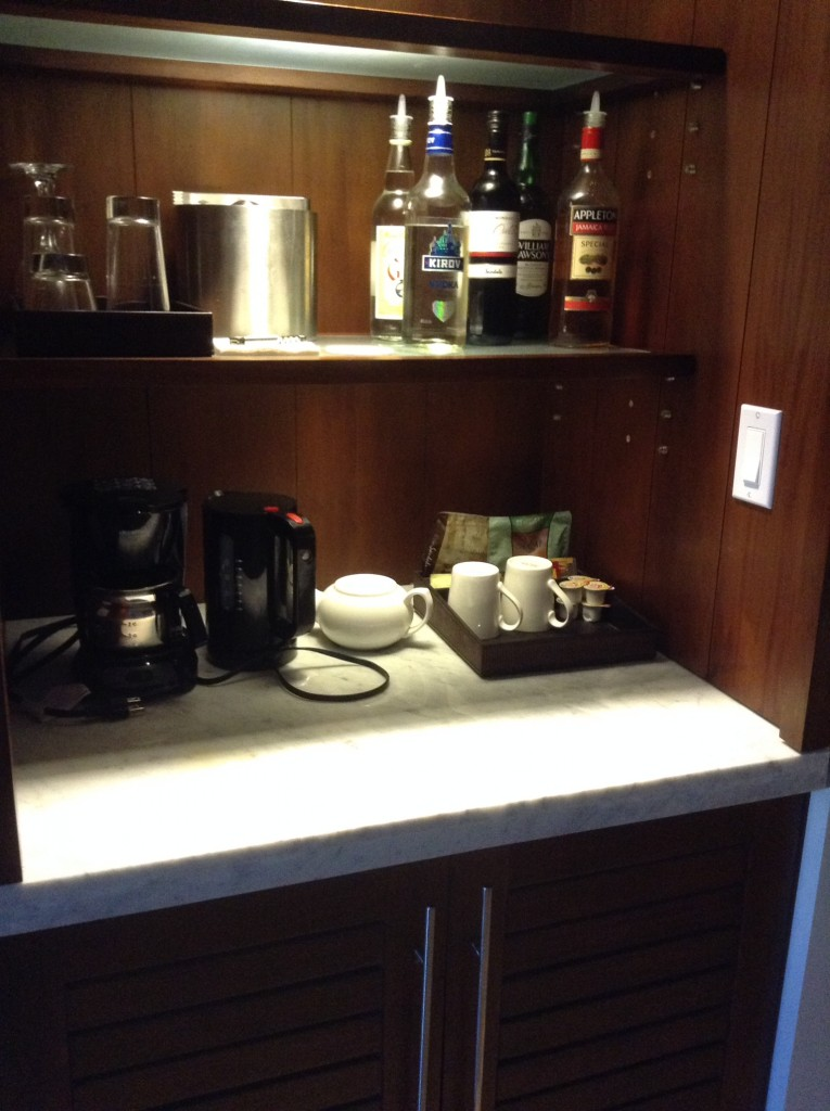 Butler Suite Beverage Station and Mini Fridge can be customized.