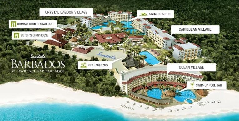 Sandals Barbados Site Map